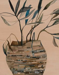 potted plant series by Australian artist Emily Ferretti