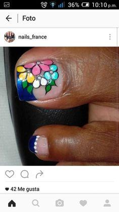 Uñas Pedicure Nail Art, Toe Nail Art, Toe Nails, Manicure, New Nail Art Design, Toe Nail Designs, Flower Nails, Nail Art Galleries, Triangles