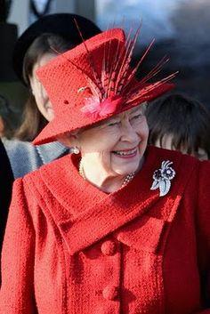 ER hats. So sweet the smile of Queen Elizabeth II.