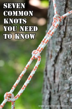 Knots... Knots everywhere... Want to learn some that you should know? #camping #outdoors