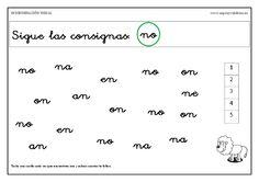 Discriminación visual, sílabas inversas.