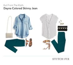 Kut From The Kloth Dayna Colored Skinny Jean $78 (Exchanged) - Stitch Fix 14 - August 2016