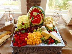 High Cotton Grill Catering did a beautiful display with our fresh fruit and cheese tray.