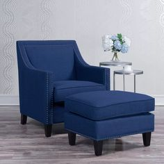 Three Posts Rotterdam Armchair and Ottoman & Reviews | Wayfair.ca