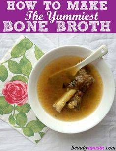 11 Beauty Benefits of Bone Broth for Skin, Hair, Anti-Aging & More - beautymunsta - free natural beauty hacks and more! Using A Pressure Cooker, Pressure Cooker Recipes, Pressure Cooking, Healthy Snacks For Diabetics, Healthy Recipes, Eating Healthy, Healthy Meals, Healthy Food, Healthy Smoothies