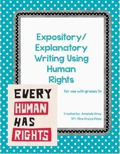 AMAZING UNIT for teaching expository writing. Fits Common Core Module 2.