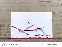 sympathy card by Marika Rahtu
