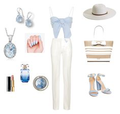 """Summer stroll"" by shimmeringsand on Polyvore featuring Ippolita, Victoria Beckham, Kate Spade, Melissa Odabash, Ross-Simons, Chanel and Elie Saab"