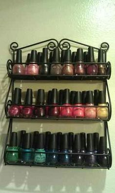Spice rack for polishes