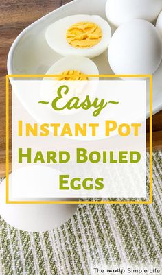 The best! Easy peel instant pot hard boiled eggs recipe (I use an 8 quart IP) - turns out perfect every time. Quick and easy healthy snack. Hard Boiled Egg Recipes, Making Hard Boiled Eggs, Easy Meal Prep, Quick Easy Meals, Easy Snacks, Healthy Snacks, Healthy Eating, No Sugar Diet, Low Sugar