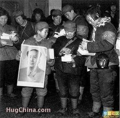 Red guards of remote areas of Heilongjiang Province arrived in Haerbin, the Capital city of Heilongjiang, after walking several hundred miles. They were excited to buy Essays of Mao Zedong at a Xinhua bookstore.