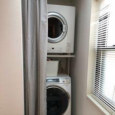 ガス乾燥機/棚/ドラム式洗濯機Panasonic/乾太くん/IKEA/モノトーン…などのインテリア実例 - 2018-10-30 13:21:47 | RoomClip(ルームクリップ) Stacked Washer Dryer, Washer And Dryer, Washroom, Laundry Room, Washing Machine, Home Appliances, Toilet Room, House Appliances, Washing And Drying Machine