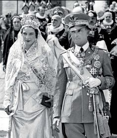 carolathhabsburg:  King Umberto II and Queen Consort Maria Jose, the last king and queen of Italy