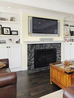 Fireplace Ideas with Television Above | Tv Above Fireplace Design, Pictures, Remodel, ... | fireplace remodel