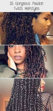25 Gorgeous Passion Twists Hairstyles, 25 Gorgeous Passion Twists Hairstyles, # ombre Braids with beads Natural Hairstyles For Kids, Straight Hairstyles, Black Hair Quotes, Water Wave Crochet, Senegalese Twist Braids, Curly Hair Styles, Natural Hair Styles, Hair Cuffs, Spring Twists