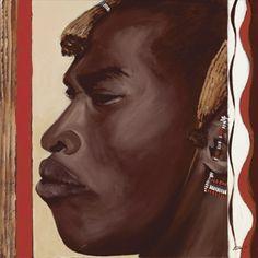 Ellen F.: Massai - Original auf Leinwand 80 x 80 cm Painting Patterns, Pattern Design, Massai, The Originals, Poster, Ethnic, Africa, Paintings, Museum Of Modern Art
