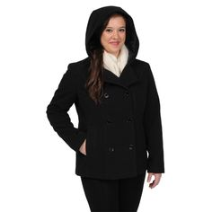 Excelled Women's Faux Wool Hooded Peacoat | Overstock.com  -Need this in their Camel color