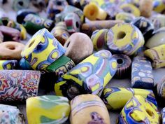 Antiques trade beads at the Singing Beads (Ghana) Bay Village, Ghana, Upcycle, Singing, Recycling, Beads, Workshop, Handmade, Africa