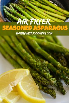 Make a crispy, tasty side dish with this Air Fryer Seasoned Asparagus! Make a crispy, tasty side dish with this Air Fryer Seasoned Asparagus! Air Fryer Recipes Appetizers, Air Fryer Recipes Breakfast, Air Fryer Dinner Recipes, Air Fryer Oven Recipes, How To Cook Asparagus, Asparagus Recipe, Air Fryer Recipes Asparagus, Air Fryer Recipes Vegetables, Asparagus Dishes
