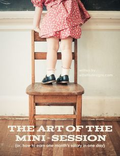 the art of the mini-session ebook. $20 - how to earn one month's salary with one day of shooting!
