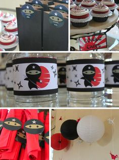 ninjaparty1 Modern Parties ~ Ninja Birthday Partyhttp://modernhostess.net/2011/04/12/modern-parties-ninja-birthday-party/
