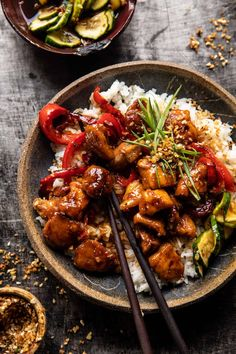 Teriyaki Chicken, Asian Chicken, Roast Chicken, Kung Pao Chicken, Asian Recipes, Healthy Recipes, Ethnic Recipes, Spicy Honey, Half Baked Harvest