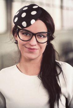 polka dots and fab glasses