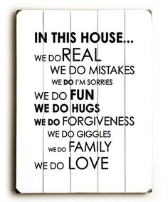This 'In this House' Wall Art by ArteHouse is perfect! #zulilyfinds