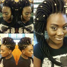 Faux Locs Pin-up @tzipporahbraids843 - http://community.blackhairinformation.com/hairstyle-gallery/locs-faux-locs/faux-locs-pin-tzipporahbraids843/