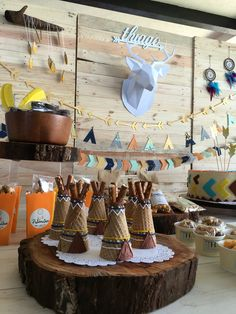 Tribal Candy Table Baby Shower