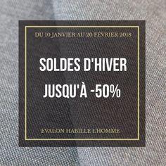 #Soldes2018 #ModeHomme  Du 10 janvier au 20 février 2018, jusqu'à -50% chez Evalon #Paris #Sentier. #vêtementhomme