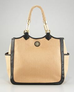 Channing Straw Tote by Tory Burch at Bergdorf Goodman.