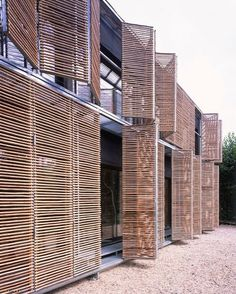 timber shutter provide a practical light and temperature control but add naturalism and minimalism