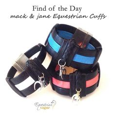 Made from gorgeous nappa leather and in a range of stylish colours we have more than fallen for the charms of these equestrian cuffs from mack & jane