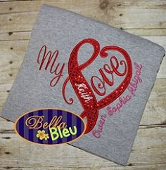 Love Heart Applique - 3 Sizes! | What's New | Machine Embroidery Designs | SWAKembroidery.com Bella Bleu Embroidery