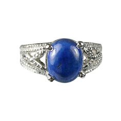 Gemstone hair clip with lapis lazuli cabochon vintage style gift idea woman
