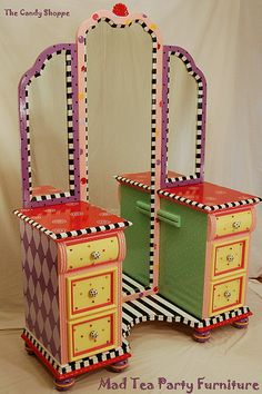 Madteapartyfurniture has an amazing talent to repurpose all different furniture pieces.