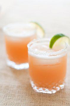 pink grapefruit margaritas 見た目もお味も爽やか~。