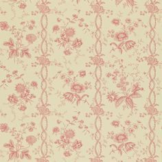 Style Library - The Premier Destination for Stylish and Quality British Design | Products | Floral Stripe Wallpaper (DEGTFS106) | Toile Wallpapers | By Sanderson