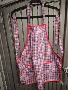 Handmade and available at website. Bbq Apron, Chef Apron, Red And White, Website, Trending Outfits, Unique Jewelry, Handmade Gifts, Crafts, Etsy