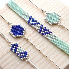 Beadweaving simple design to create pendant