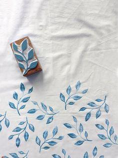 Hand print textiles with Karaka Handmade / Stamped textiles  http://www.karakahandmade.com/
