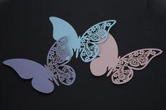10 stk nydelige bordkort sommerfugler. For å feste på glass.
