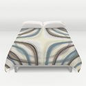 duvet covers Pattern brown and blue 1 by Christine Baessler