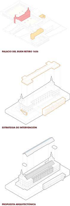 Axonometric. Extension proposal for El Prado Museum by Nieto Sobejano. Image courtesy of Nieto Sobejano.