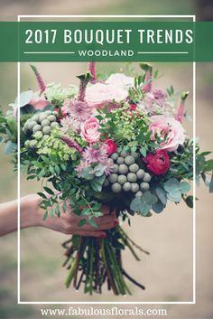 2017 BOUQUET trends! www.fabulousflorals.com The #1 source for wholesale DIY wedding flowers! #bohobouquet #diyflowers #woodlandbouquet #silverbouquet #succulentbouquet