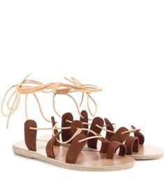 Alcyone suede sandals | Ancient Greek Sandals