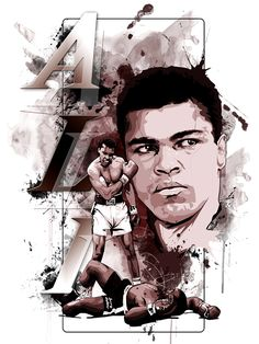 Mohamed Ali on Behance - PintoPin Mohamed Ali, Aikido, Muhammad Ali Boxing, Monte Fuji, Boxing Posters, Float Like A Butterfly, Sports Figures, Sports Art, Dojo