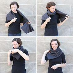 Ein Schal aus T-Shirt Stoff