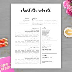 Upgrade your résumé and make a lasting impression with this best-selling résumé template from the Résumé Template Studio!